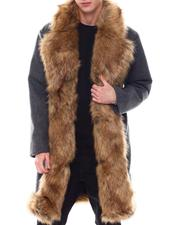 SWITCH - Overcoat w Faux Fur Placket Trim-2568051