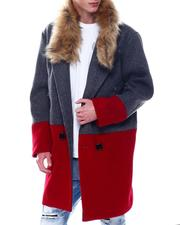 SWITCH - Colorblock Overcoat w Faux Fur Trim-2568075