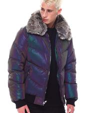 Fall-Winter - Iridescent Puffer Coat w  Removable Faux Fur collar-2569160