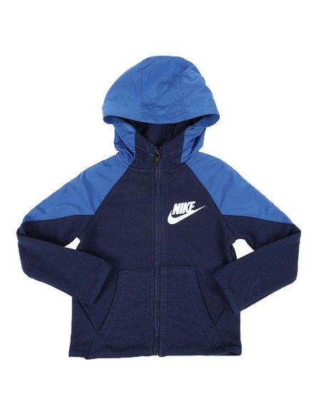 Nike - NKB Mixed Material Full Zip Hoodie (2T-4T)