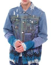 Denim Jackets - Air Brush City Denim Jacket-2566694