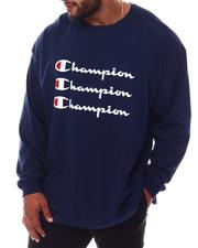 Champion - Triple Logo Long Sleeve T-Shirt (B&T)-2569566