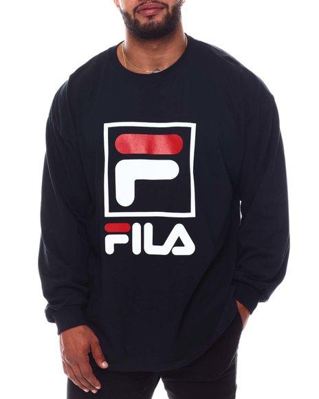 Fila - Box Logo Long Sleeve T-Shirt (B&T)