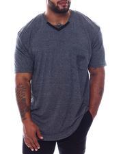 Buyers Picks - Marled V-Neck Mesh Pocket T-Shirt (B&T)-2569963