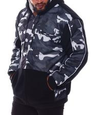 Light Jackets - Camo Fleece Zip Up Hoodie (B&T)-2569462