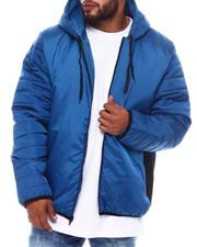 Light Jackets - Puffer Sleeve Hooded Jacket (B&T)-2569483