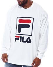 Fila - Box Logo Long Sleeve T-Shirt (B&T)-2569898