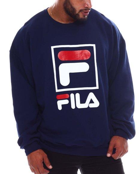 Fila - Box Logo Crewneck Sweatshirt (B&T)