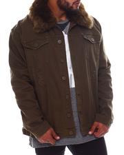 Big & Tall Faves - Doll Denim Jacket with Fur Collar (B&T)-2570415