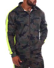 Light Jackets - Camo Side Stripe Zip Up Track Jacket (B&T)-2570231