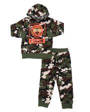 Parish - 2 Pc Savage Lion Camo Fleece Hoodie & Jogger Pants Set (4-7)-2568259