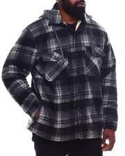 Light Jackets - Sherpa Lined Shirt Jacket (B&T)-2570555