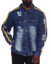 Buyers Picks - Denim Jacket With Rips & Neon Stripe + Paint Splatters (B&T)-2569222