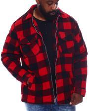 Buyers Picks - Buffalo Plaid Printed Fleece Jacket (B&T)-2570532