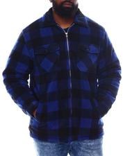 Light Jackets - Buffalo Plaid Fleece Sherpa A Lined Jacket (B&T)-2570541
