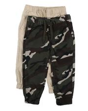 Bottoms - 2 Pack Camo & Solid Twill Jogger Pants (2T-4T)-2566747