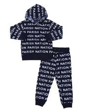 Parish - 2 Pc All Over Print Fleece Hoodie & Jogger Pants Set (4-7)-2567786