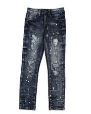 Arcade Styles - Paint Splatter Distressed Jeans (8-20)-2568892