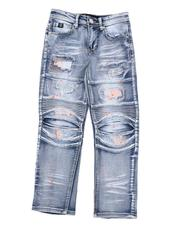 SWITCH - Rip & Repair Moto Jeans W/ Embroidery & Paint Splatter (8-18)-2568905