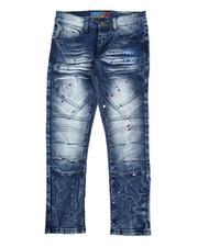 Arcade Styles - Paint Splatter Moto Jeans (8-16)-2570592