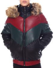 Outerwear - Chevron Bomber Jacket w Faux Fur Hood-2568605