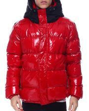 Outerwear - Matte Color Block Glazed Nylon Jacket-2568477