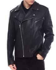 Hugo Boss - Lyder Nappa Leather moto Jacket-2569219