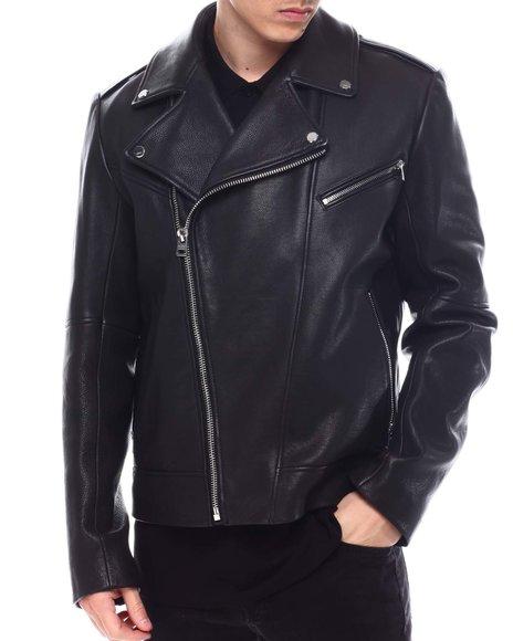 Hugo Boss - Lyder Nappa Leather moto Jacket