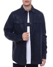 DJPremium - 3301 regular Leather overshirt-2571368