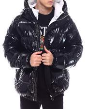 Outerwear - Glazed Nylon Puffer Coat w Hood-2571864