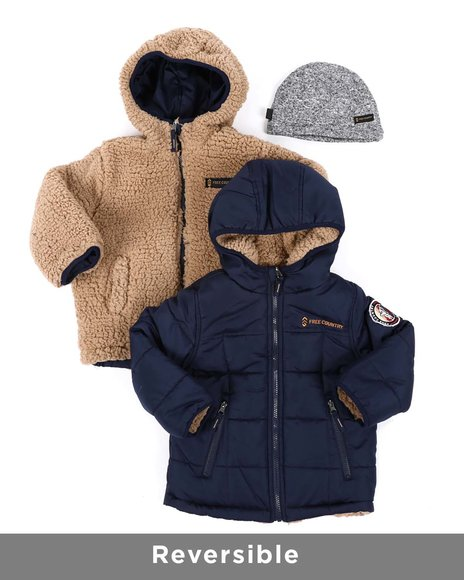 Free Country - Reversible Puffer Jacket (4-7)