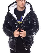 Outerwear - Matte Color Block Glazed Nylon Jacket-2568496