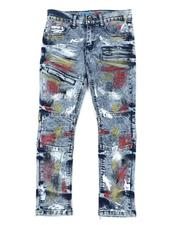 Arcade Styles - Color Distressed Jeans (8-16)-2570628