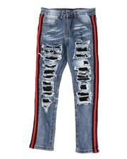 Arcade Styles - Taped Sides Rip & Repair Jeans (8-20)-2568943