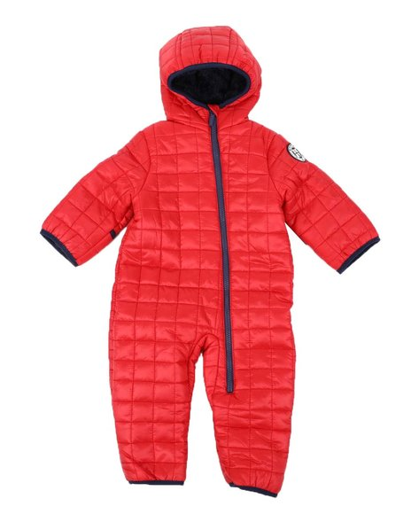DKNY Jeans - Quilted Snowsuit Pram (Infant)