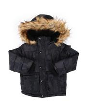 DIESEL KIDS - Hooded Parka Jacket W/ Faux Fur Trim (4-7)-2568796