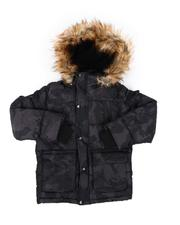 DIESEL KIDS - Hooded Parka Jacket W/ Faux Fur Trim (8-20)-2568800