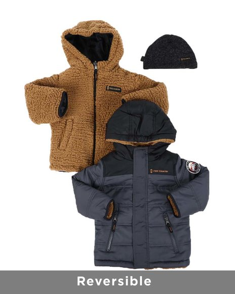 Free Country - Reversible Puffer Jacket (2T-4T)