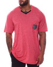 Buyers Picks - Marled V-Neck Mesh Pocket T-Shirt (B&T)-2572007
