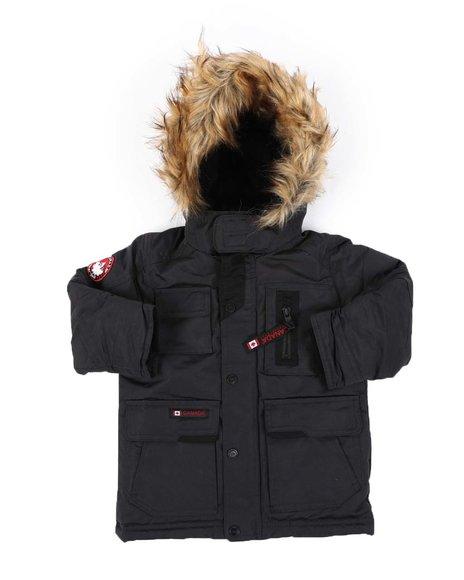 Canada Weather Gear - Hooded Parka Jacket W/ Faux Fur Trim (2T-4T)