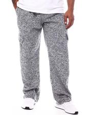 Pants - Marled Cargo Pocket Fleece Pants (B&T)-2571978