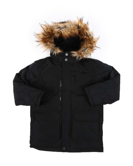 Rocawear - Faux Fur Trim Hooded Parka Jacket (4-7)
