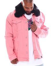 Men - Doll Denim Jacket with Fur Collar (B&T)-2570492