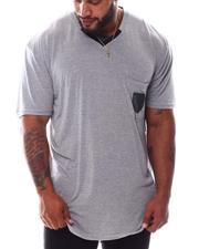 Buyers Picks - Marled V-Neck Mesh Pocket T-Shirt (B&T)-2572015