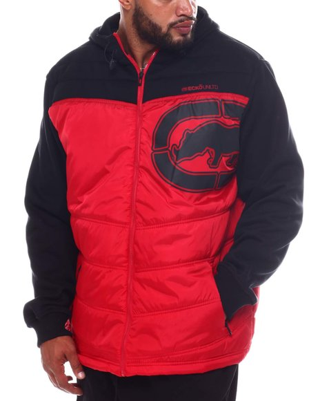 Ecko - Chevron Printed Tape Hooded Jacket (B&T)