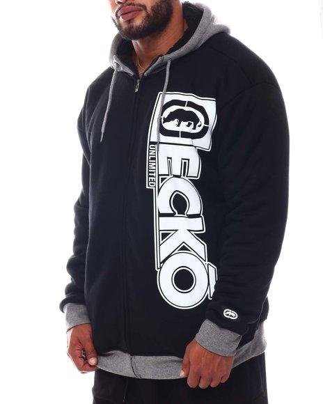 Ecko - Double Negative Full Zip Sherpa Hoodie (B&T)