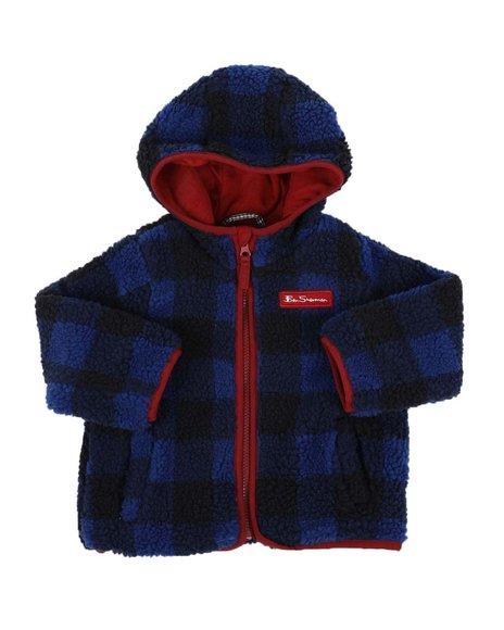 Ben Sherman - Plaid Sherpa Hooded Jacket (2T-4T)