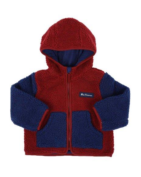 Ben Sherman - Color Block Sherpa Hooded Jacket (2T-4T)