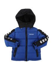 Outerwear - Two Tone Puffer Jacket W/ Sherpa Hood (4-7)-2564184
