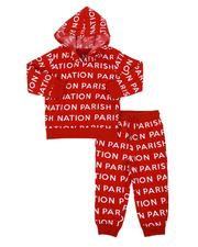 Boys - 2 Pc All Over Print Fleece Hoodie & Jogger Pants Set (2T-4T)-2567765